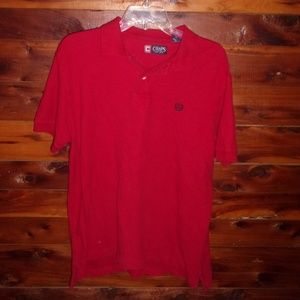 Mens Red Chaps Polo Shirt